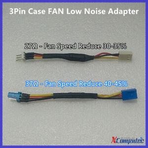3Pin Case FAN Low Noise Cable Adapter Resistance Reduce Fan Speed Silent 27Ω 37Ω