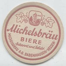 älterer Bierdeckel BABENHAUSEN Hessen MICHELSBÄU ..daheim in Flaschen...