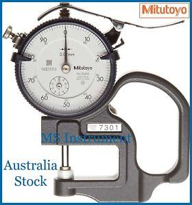 Genuine Mitutoyo 7301 Dial Thickness Gauge Flat 10mm 0.01mm Australia Stock