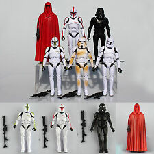 6Pcs Star Wars Clone Wars Troopers Shadow Stormtrooper Action Figure Toys Lot