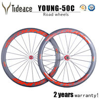 High Performance T800 Carbon Fiber 25mm width 50mm road bike wheels matt finish