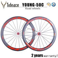 T800 Carbon Road Bicycle Wheelset 50mm Clincher 700C Carbon Bike Wheels