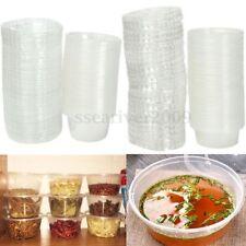 4oz H/Duty Clear Plastic Chutney Cups With Lids/Sauce Pots/Deli Pots/Desserts