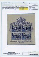 Vaticano Pio XII- Foglietto Centenario del Francobollo Lusso  Cart. Bolaffi 100%