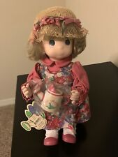 "Precious Moments Doll #1427 March ""Lily� Tea Pot still in plastic impeccable"