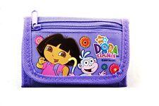 Purple Dora the Exlplorer Tri Fold Wallet - Small Kids Trifold Wallet