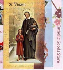 Saint St. Vincent de Paul  - Biography, prayer, Feast Day, etc... Folder Card