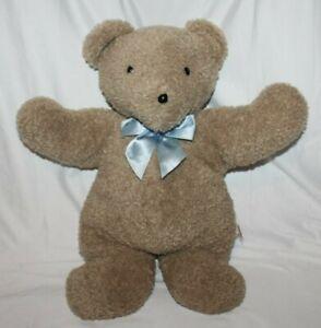 "Retro North American Bear Co 2012 Oatmeal Bear 18"" RARE HTF Brown Blue Ribbon"