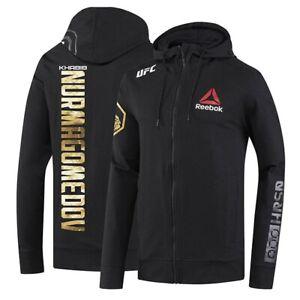 UFC MMA Mens Medium Walkout HOODIE JACKET Reebok Khabib Nurmagomedov