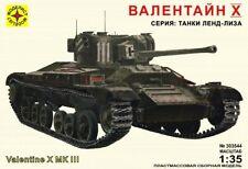 1/35 Valentine X MK III England 1943 Tank WW II Plastic Model KIT Decal
