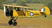 Fleet Model 16R Finch Biplane RCAF Trainer Aircraft Wood Model Free Shipping