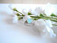 Juwelo Silberring Blauer Opal Topas Ring  925 Sterling Silber  Zertifikat   NEU