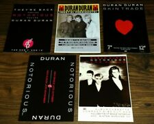 "DURAN DURAN Notorious Set Of Five 6""x 4"" Promo Advert Postcards GIFT IDEA 29"