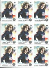 (9) 2014 TOPPS OLYMPIC LINDSEY JACOBELLIS SILVER CARD #47 LOT ~ USA SNOWBOARDING