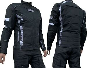 Motorradjacke Jacke herausnehmbare Protektoren Textil Motorrad Quad CAMOU URBAN