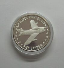 Air Force Fighter Series F-86 Sabre Commemorative 1 Oz .999 Silver Proof Rd