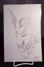 Beta Ray Bill by Walt Simonson 10.5 x 7 Commission Sketch Art in Silver Pen NM+