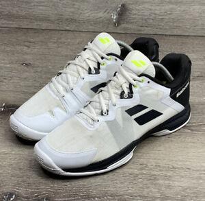 Babolat SFX3 All Court Mens Tennis Shoe Size 9 White Black Volt Green Sneakers