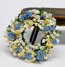 Spring Floral Wreath Centerpiece Artisan Dollhouse Miniature 1:12
