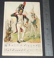 Chromo chocolat de royat 1910-1914 popular song rhyme fanfan the tulip 1