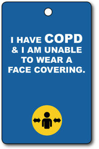 Exemption Cards and Lanyards - COPD Exempt from Face Covering