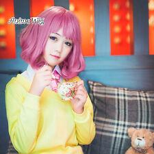 Anime Noragami / Stray God Kofuku Pink Mixed Purple Wavy Hair Women Cosplay Wig