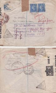 G.B-Singapore 1941 Sent to Leeds the reforwarded to Singapore {See Below}