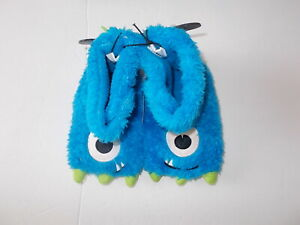Fuzzy Blue Monster Toddler Boy's Size 5/6 Slippers