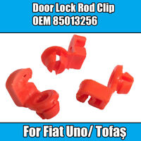 2x Clips For Fiat Uno Tofaş Pair of 2 Door Lock Rod Clips Orange Plastic