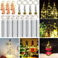 5/10PCS 20 LED Wine Bottle Cork Fairy String light Copper Wire Xmas Wedding Lamp