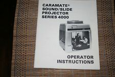 CARAMATE Sound Slide Projector Series 4000
