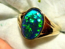 Opal Yellow Gold Rings for Men