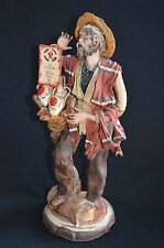 Vtg Italy Angela Tripi Original Fruit Seller Man Figurine Terracotta Not Resin