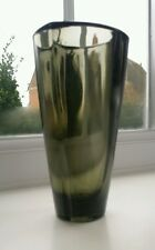 ROSICE GLASSWORKS  SMOKE GLASS VASE BY FRANTISEK VIZNER 1962 Model No 902