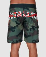 BILLABONG A1 METALLICA MEN BLACK CAMO board shorts limited edition 4 way stretch