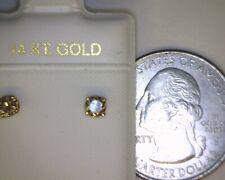 1/3ctw Diamond Studs 14K Yellow Gold SI Clarity Top Light Brown Color Chocolate