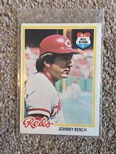 +++ JOHNNY BENCH 1978 TOPPS BASEBALL CARD #700 - CINCINNATI REDS +++