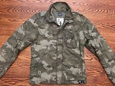G-Star RAW Men's Military Camo Padded Nylon Field Jacket - Size Large