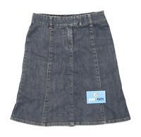 H&M Womens Size W28 Denim Blue A-Line Skirt (Regular)