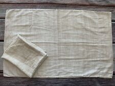 Crate & Barrel Cassava Basket Weave Print Sateen Standard Shams Cotton