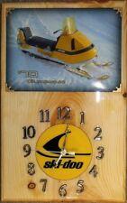 New listing Ski Doo 70 Olympique snowmobile wood clock