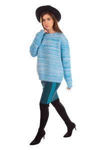 RRP €515 DIANE VON FURSTENBERG Jumper Size S Angora & Wool Blend Two Tone