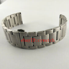 Parnis 22mm 316L Stainless Steel Bracelet Watchband Silver Watch Straps Bands