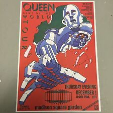 QUEEN - CONCERT POSTER M.S.G. NEW YORK CITY THURSDAY 1st DECEMBER 1977 (A3 SIZE)