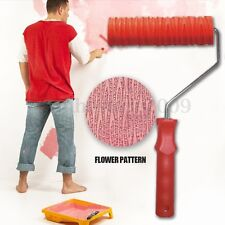 "7"" Embossing Tree Paint Roller Painting Brush with Handle Wall Decor Tool NO.024"