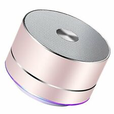Lenrue Bluetooth Speaker Wireless Mini Outdoor Rechargeable With Rose Gold...