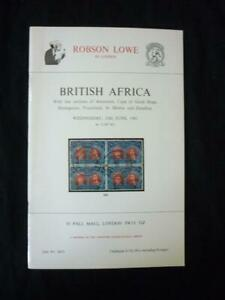 ROBSON LOWE AUCTION CATALOGUE1981 BRITISH AFRICA with ASCENSION CAPE ZANZIBAR