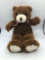 Vintage 1994 Plush Creations Inc Benjie Brown Teddy Bear Push Stuffed Toy Animal