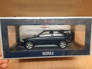 NOREV 1992 FORD ESCORT RS COSWORTH DARK BLUE - 1:18 SCALE MODEL CAR - 182777