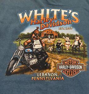 Harley Davidson White's HD Lebanon, PA Short Sleeve Black T-Shirt 3x w/Hog Farm